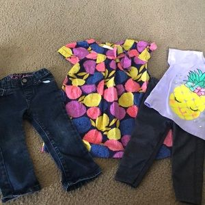 Bundle of toddler girl clothes
